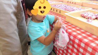 信玄餅詰め放題は0歳~3歳の子連れでも十分楽しめました!